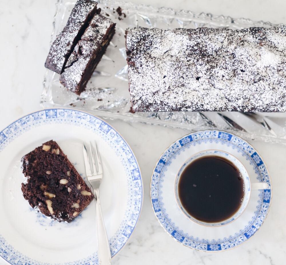 Rezept Veganer Zuckerfreier Schoko Walnuss Kuchen Isabella Blume