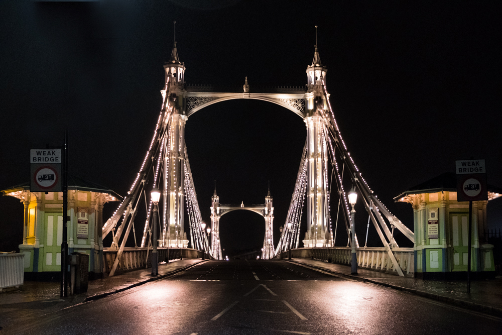 Albert Bridge London Vauxhall Bucket List 2018